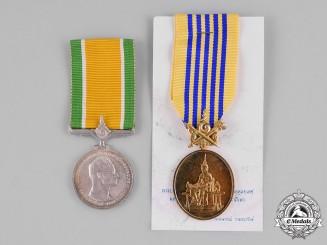 Thailand, Kingdom. Two Rama IX Jubilee Medals