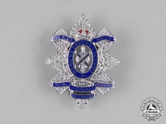 Canada. A Superb Black Watch (Royal Highland Regiment) of Canada Sweetheart Badge, c.1920