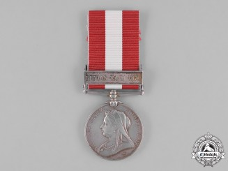 United Kingdom. A Canada General Service Medal, 27th (Lambton Infantry) Battalion