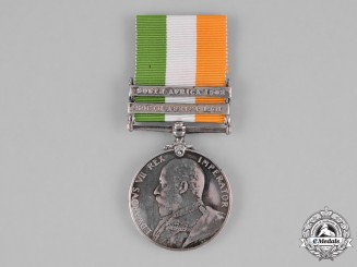 United Kingdom. A King's South Africa Medal 1901-1902, to Private W. Ledger, The Queen's (Royal West Surrey) Regiment, Wounded in Action