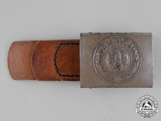 Germany, Heer. An Army  EM/NCO Belt Buckle by Brüder Schneider, c.1940