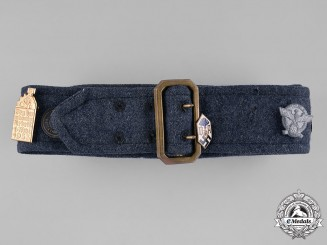 Germany, Third Reich. A Souvenir Belt Featuring Day Badges