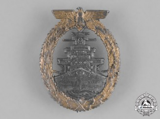 Germany, Kriegsmarine. A High Seas Fleet Badge by Schwerin