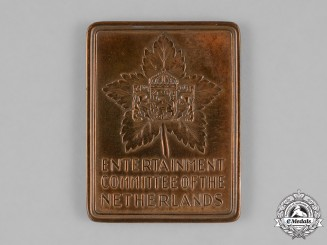 Canada. A Second War Entertainment Committee of the Netherlands Medal