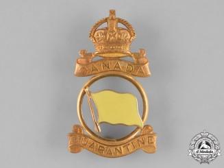 Canada. A Canadian Quarantine Officer's Cap Badge