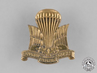 Canada. A Canadian Parachute Corps Cap Badge c.1945