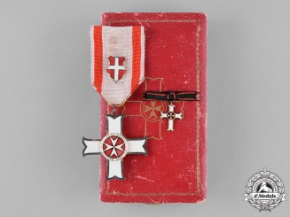 Italy, Kingdom. A Sovereign Military Hospitaller Order of Saint John of Jerusalem, Merit Cross, c.1920