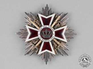 Romania, Kingdom. An Order of the Crown, I Class Star, Military Division, c.1915