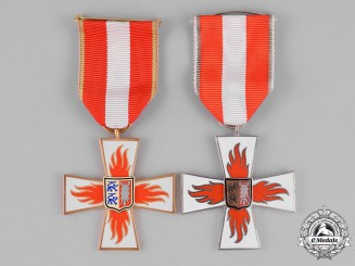 Germany, Weimar. A Pair of Fire Brigade Service Medals