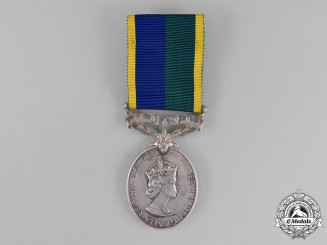United Kingdom. An Efficiency Medal with Territorial and Army Volunteer Reserve Scroll, REME