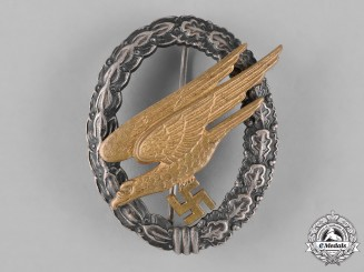 Germany, Luftwaffe. A Fallschirmjäger Badge by F.W. Assmann & Söhne