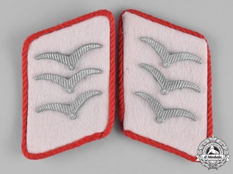 Germany, Luftwaffe. A Pair of 1st Fallschirm-Panzer Division Hermann Göring Obergefreiter Collar Tabs