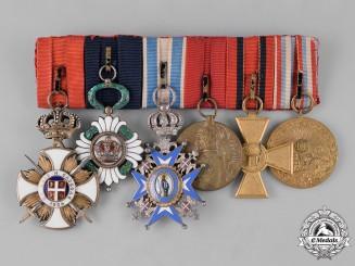 Serbia, Kingdom. A First War Period Medal Bar of Six Awards