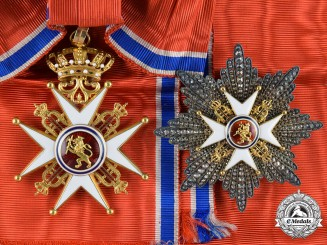 Norway, Kingdom. A Royal Order of Saint Olaf, Grand Cross, by J. Tostrup, Oslo, c.1850