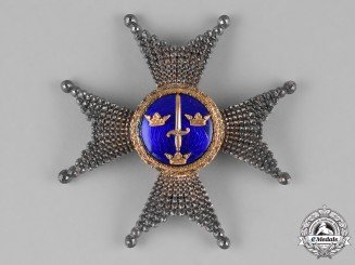 Sweden, Kingdom. An Order of the Sword, I Class Commander,by C.F.Carlman, c.1917