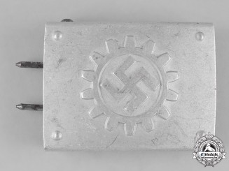 Germany, DAF. A German Labour Front (DAF) Enlisted Buckle by Friedrich Linden