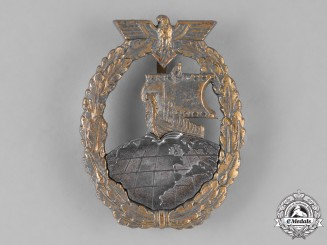 Germany, Kriegsmarine. A Kriegsmarine Auxiliary Cruiser Badge