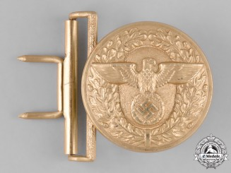 Germany, NSDAP. A NSDAP Leader's Belt Buckle by Wilhelm Schröder & Co.