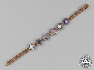 Germany, Hesse. A Gold Bracelet with Miniature Orders, c.1890