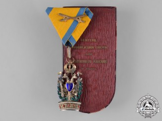 Austria, Empire. An Order of the Iron Crown, III Class, Dedicated to the Commander of the 4/34 F.B., c.1916