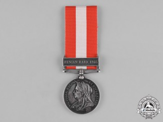 Canada. A General Service Medal 1866-1870, 21st Battalion, Pigeon Hill Raid