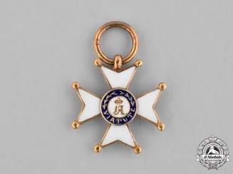 Luxembourg, Duchy. A Miniature Merit Order of Adolph of Nassau in Gold, c.1900