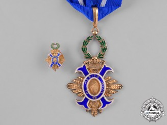 Spain, Franco Period. An Order of Civil Merit, Commander with Miniature, c.1950