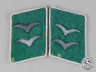 Germany, Luftwaffe. A Pair of Luftwaffe Ground Division Infantry Gefreiter Collar Tabs