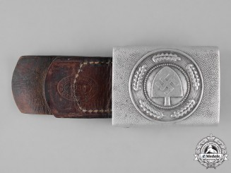 Germany, RAD. A Reich Labour Service (RAD) EM/NCO's Belt Buckle by Berg & Nolte