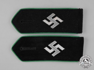 Germany, SiPo. A Pair of Sicherheitspolizei (Security Police) EM/NCO's Shoulder Straps
