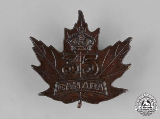 Canada. A 35th Infantry Battalion Cap Badge, c.1915