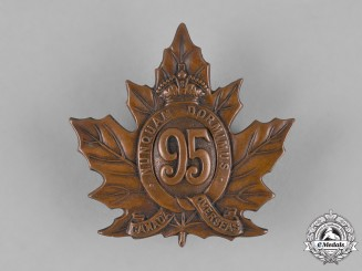 Canada. A 95th Infantry Battalion Cap Badge, c.1915