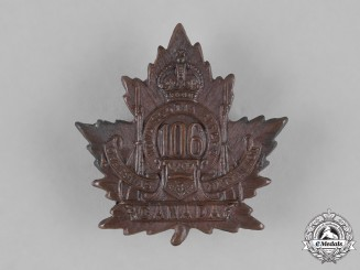 "Canada. A 106th Infantry Battalion ""Nova Scotia Rifles"" Cap Badge, c.1915"