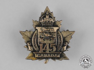 Canada. A 145th Infantry Battalion Cap Badge , c.1915