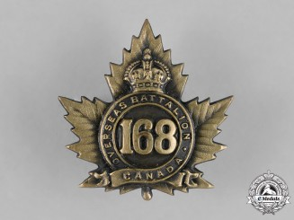 Canada. A 168th Infantry Battalion Cap Badge, c.1915