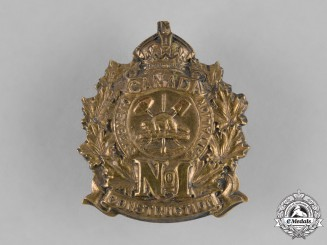 Canada. A No. 1 Construction Battalion Cap Badge, c.1915