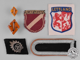 Germany, SS. A Collection of 15th Waffen Grenadier Division (1st Latvian) Insignia