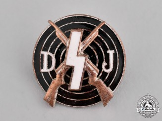 Germany, DJ. A Deutsches Jungvolk Shooting Badge by Eugen Schmidthäussler