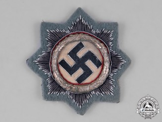 Germany, Luftwaffe. A Rare German Cross in Silver, Cloth Version