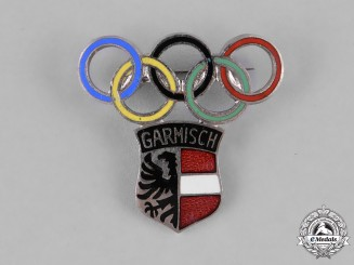 Germany, Third Reich. A 1936 Garmisch Winter Olympics Pin