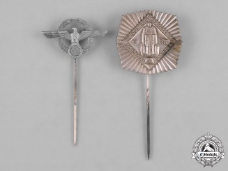 Germany, Third Reich. A Pair German Stick Pins