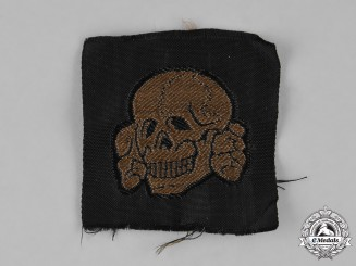 Germany, SS. A Rare Brown Waffen-SS Cap Skull for M43 Field Cap