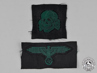 Germany, SS. A Pair of Waffen-SS Cap Insignia