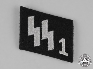 "Germany, Waffen-SS. An Early, RZM-Marked SS Panzer Grenadier Regiment ""Deutschland"" Collar Tab"