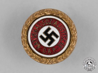 Germany, NSDAP. A Golden Party Badge by Josef Fuess