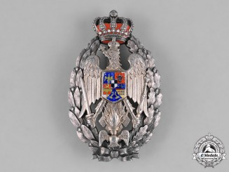 Romania, Kingdom. A Military Academy Badge, c.1915