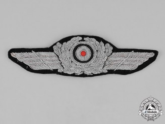 Germany, Luftwaffe. A Luftwaffe Officer Visor Cap Insignia