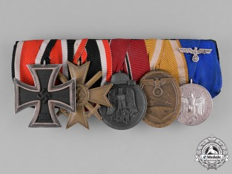 Germany, Wehrmacht. An Army Iron Cross and Long Service Medal Bar