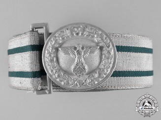 Germany, Forstschutz. A Forestry Protection Officer's Brocade Belt and Buckle