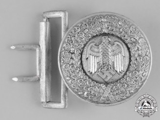 Germany, Heer. A Heer (Army) Officer's Belt Buckle by F.W. Assmann & Söhne